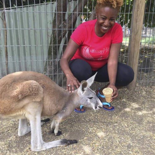 DiscovHer - Feeding a Kangaroo at Featherline Park
